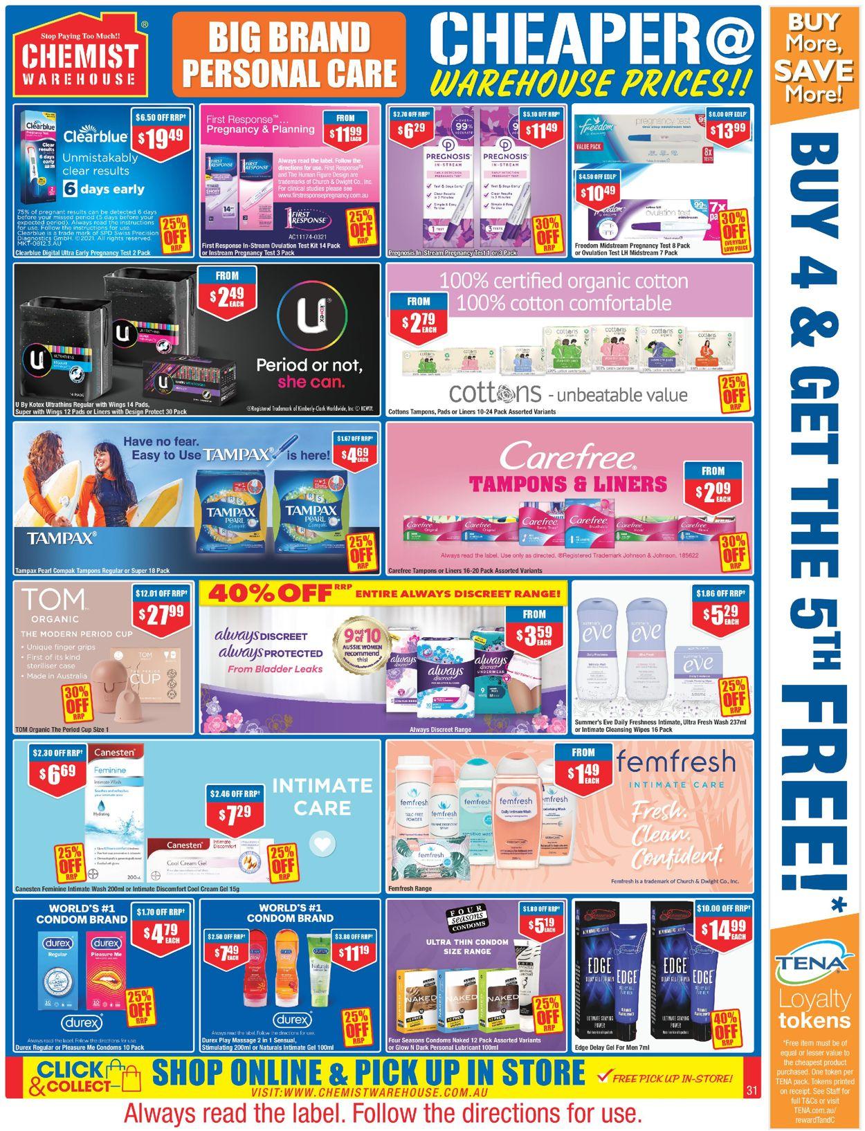 Chemist Warehouse Catalogue - 27/05-09/06/2021 (Page 31)