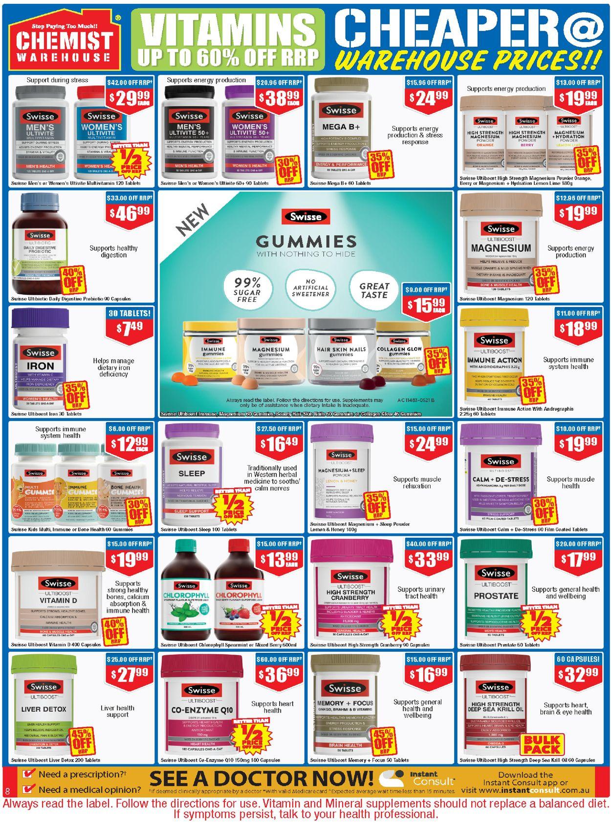 Chemist Warehouse Catalogue - 22/07-04/08/2021 (Page 8)