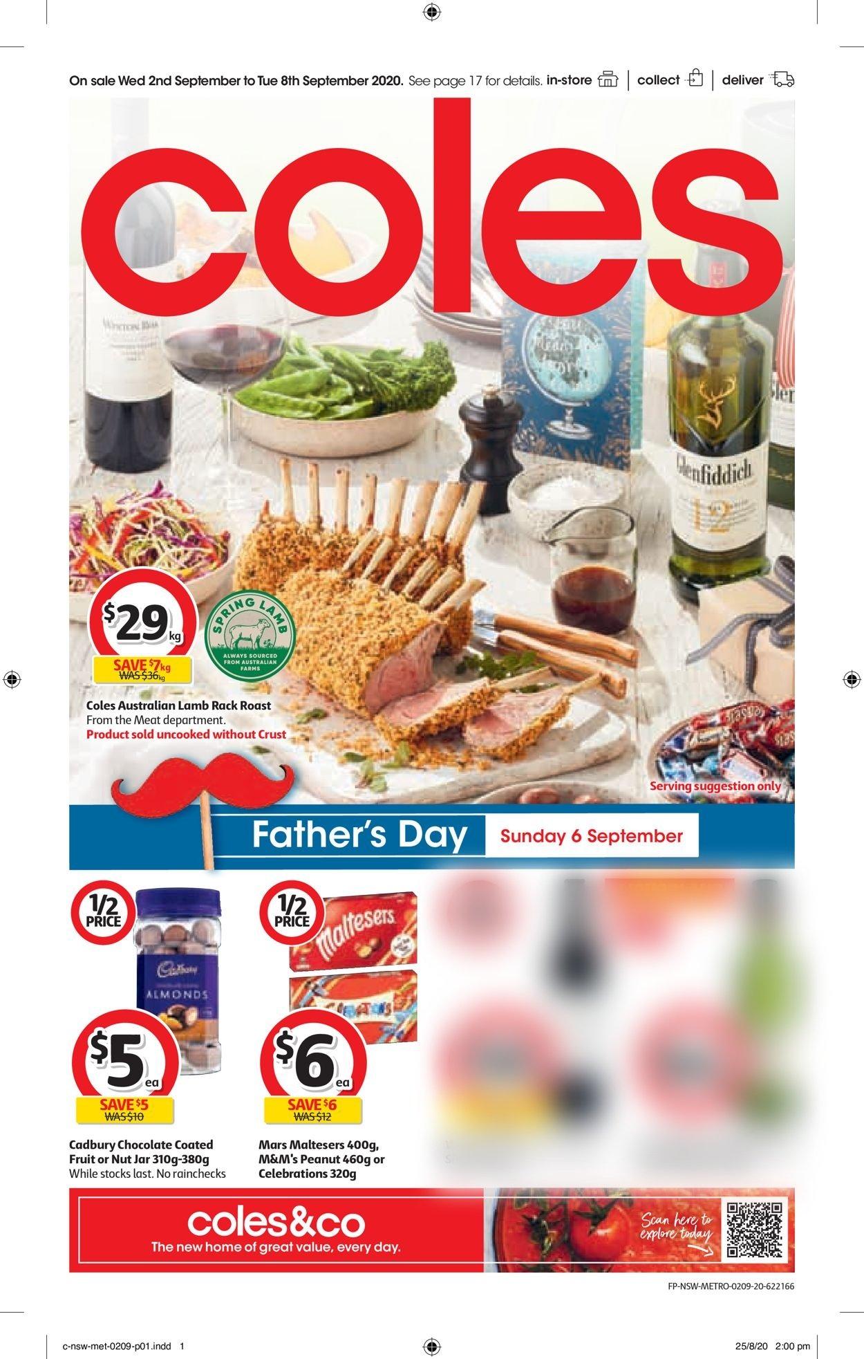 Coles Catalogue - 02/09-08/09/2020