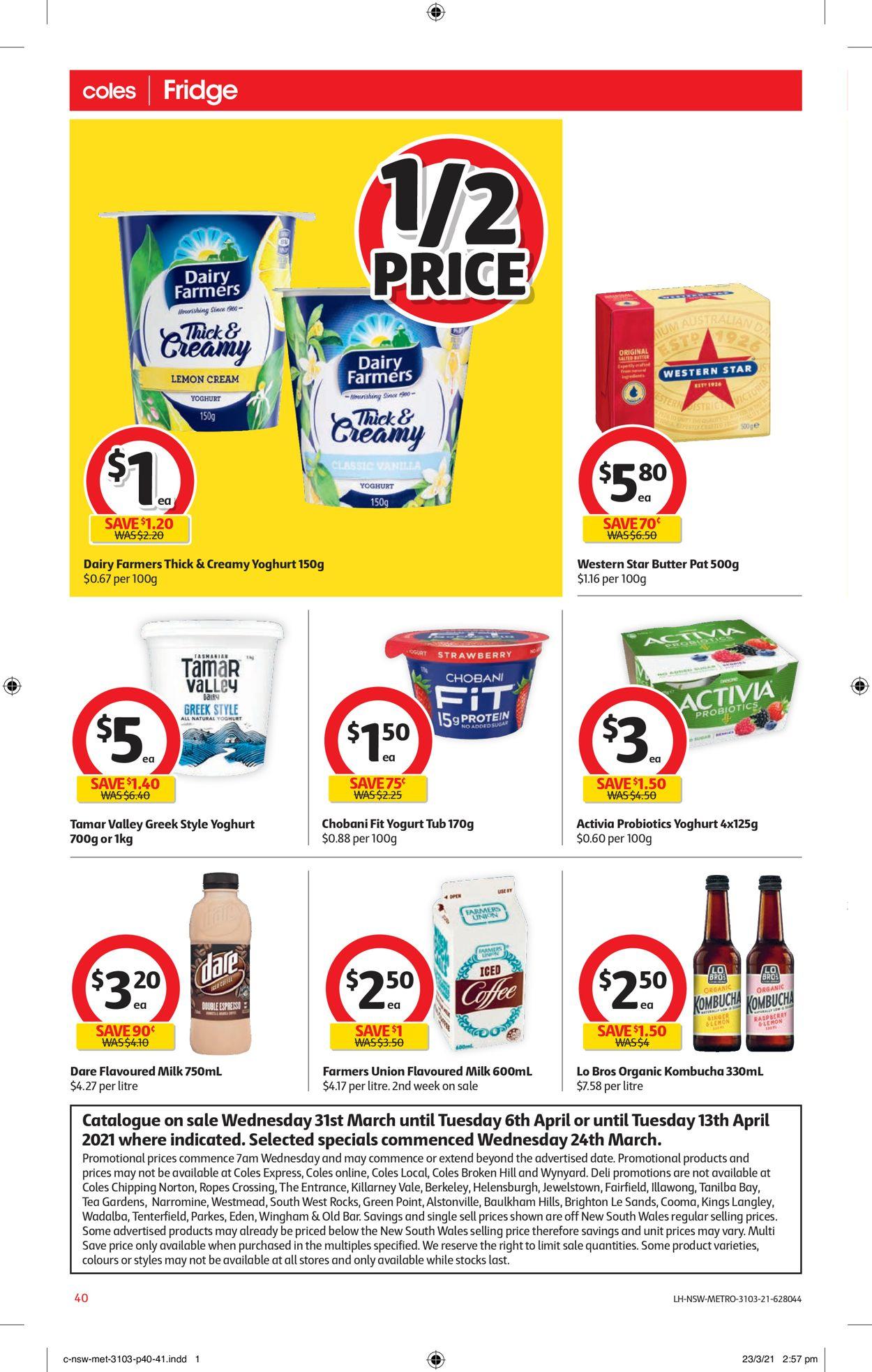 Coles Catalogue - 31/03-06/04/2021 (Page 40)