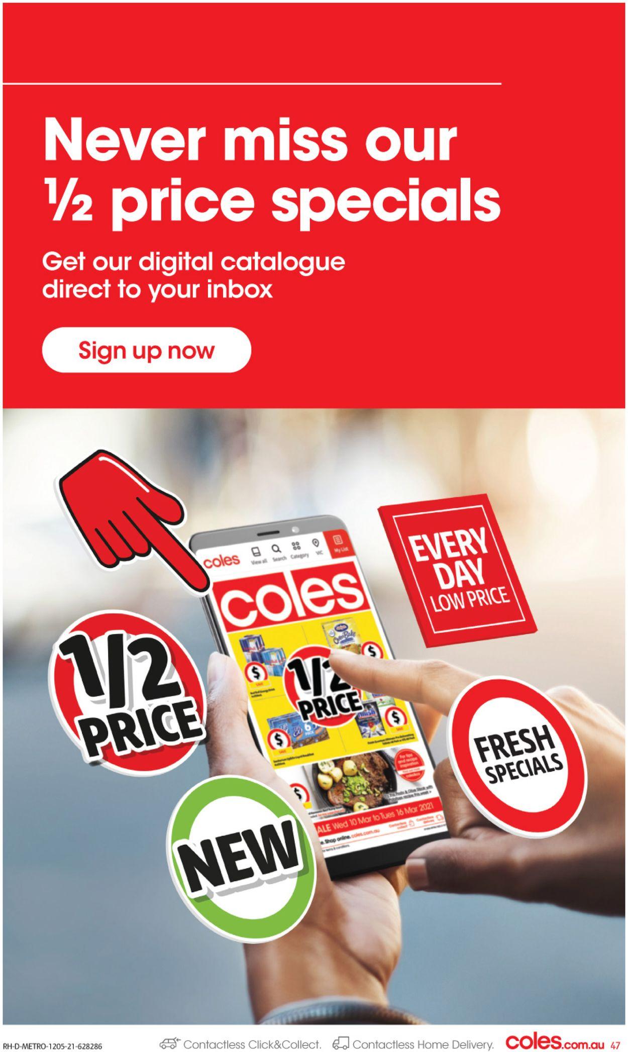 Coles Catalogue - 12/05-18/05/2021 (Page 47)
