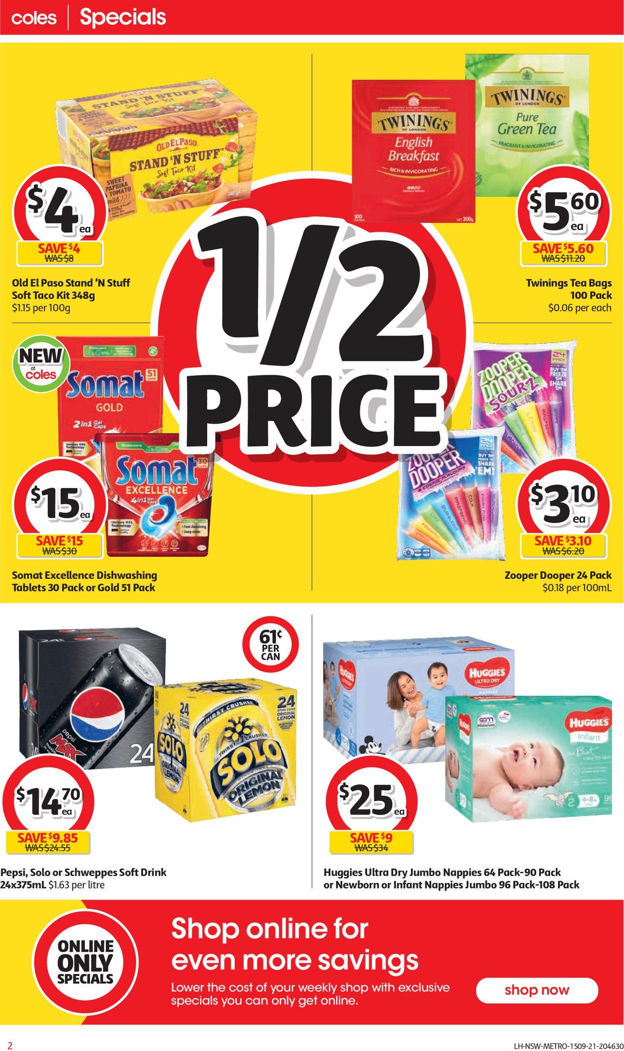 Coles Catalogue - 15/09-21/09/2021 (Page 2)