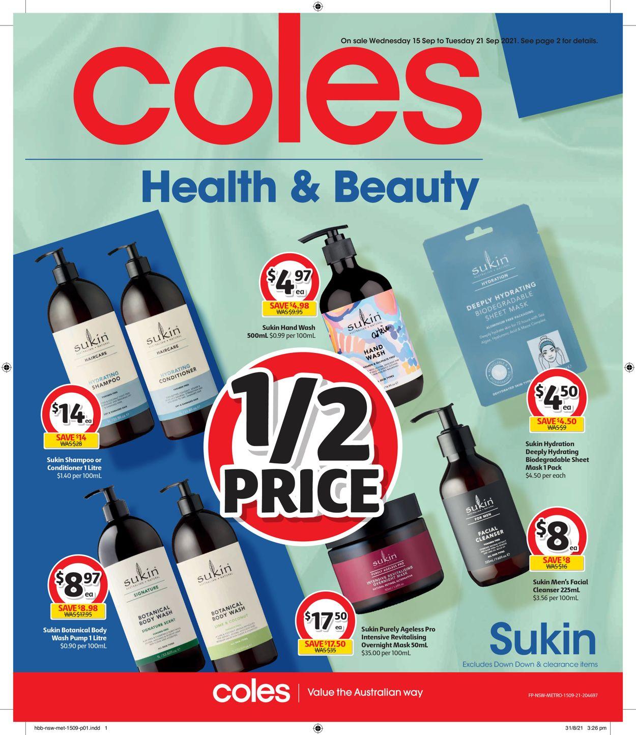 Coles Catalogue - 15/09-21/09/2021