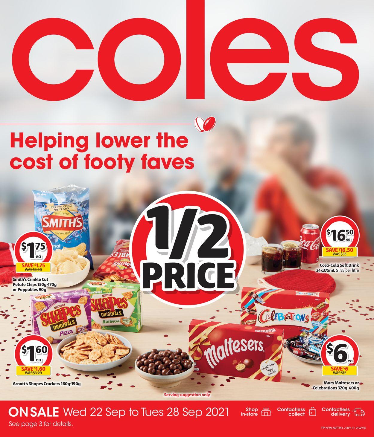 Coles Catalogue - 22/09-28/09/2021