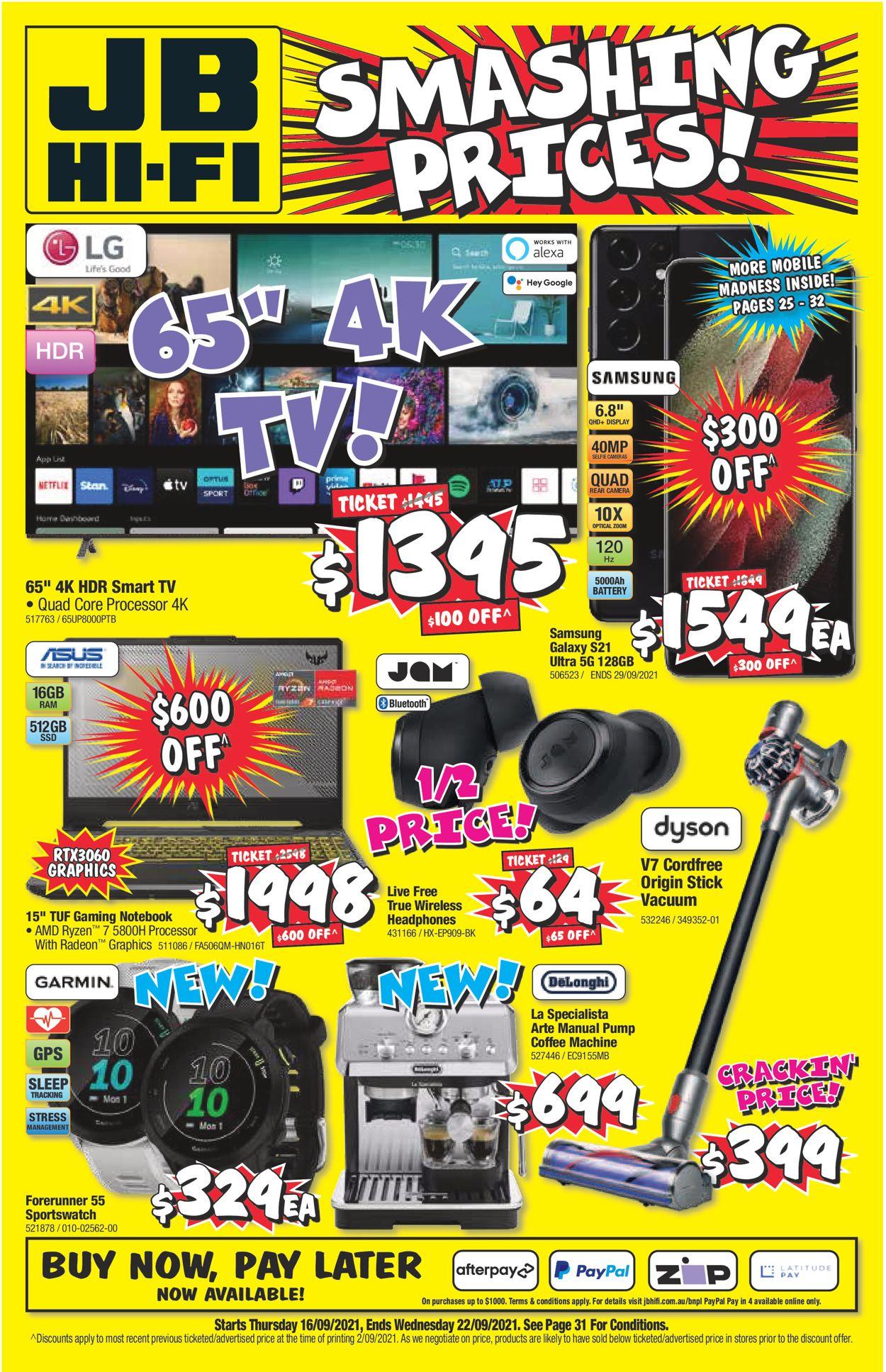 JB Hi-Fi Catalogue - 16/09-22/09/2021