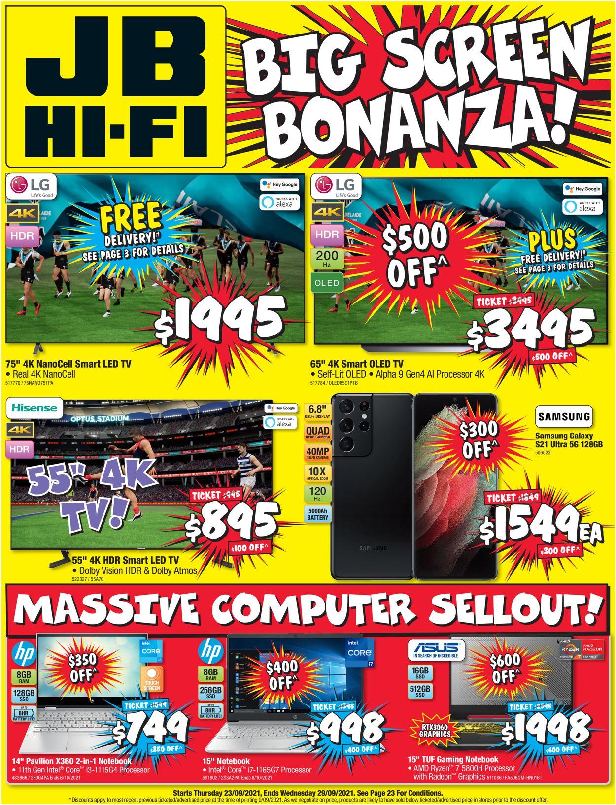 JB Hi-Fi Catalogue - 23/09-29/09/2021