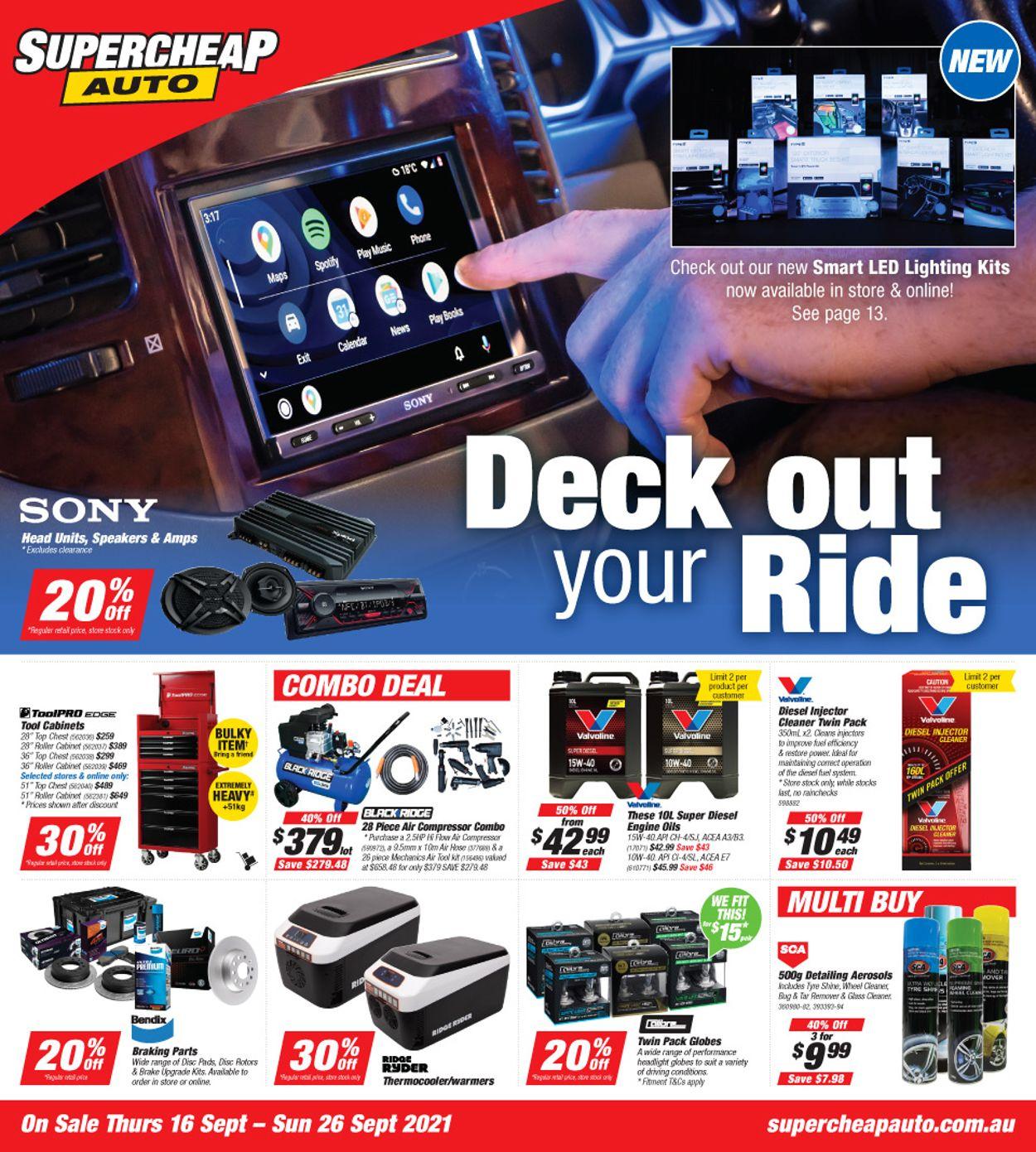 Supercheap Auto Catalogue - 16/09-26/09/2021