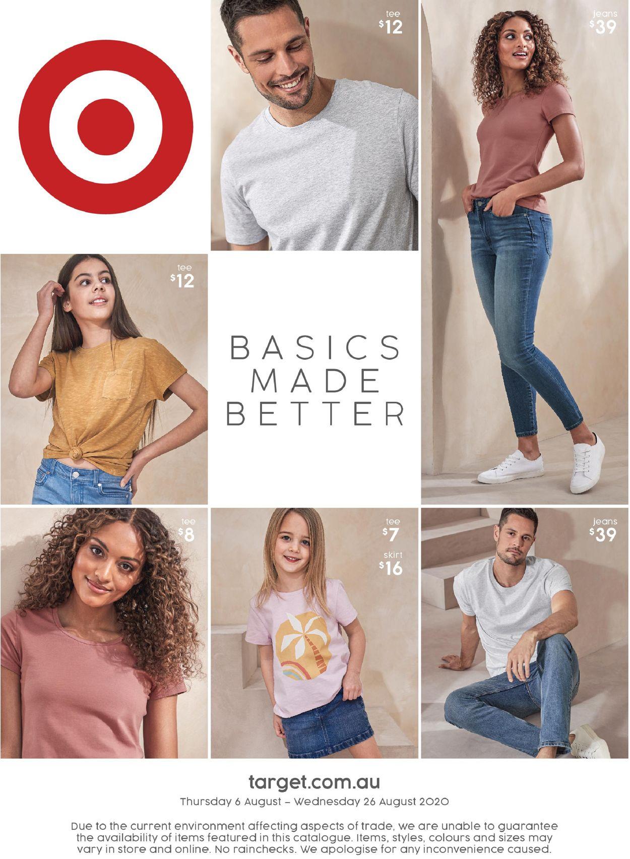 Target Catalogue - 06/08-26/08/2020
